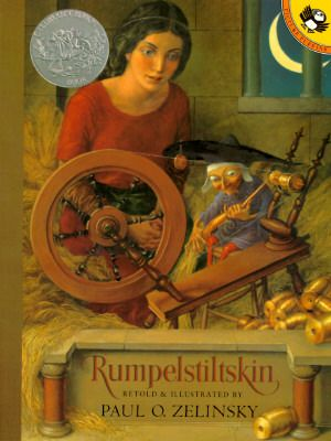 Rumpelstiltskin. Traditional Literature. This story is about a girl who has to turn straw into gold or else the king will kill her. She is unable to do it so a little man helps her.