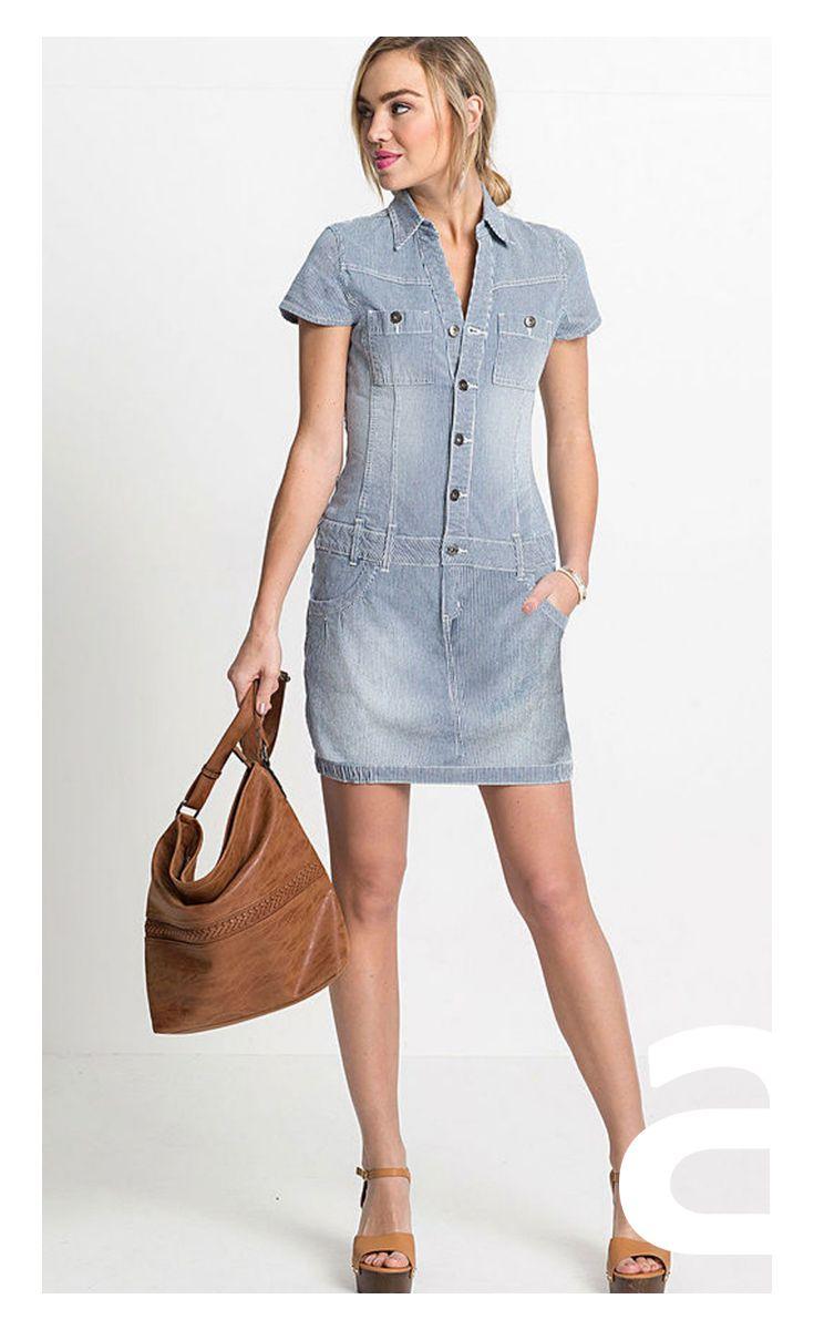 Letnia Sukienka Ciekawa Stylizacja Moda Damska Sukienka Mini Jeansowa Sukienka Sukienka Z Guzikami