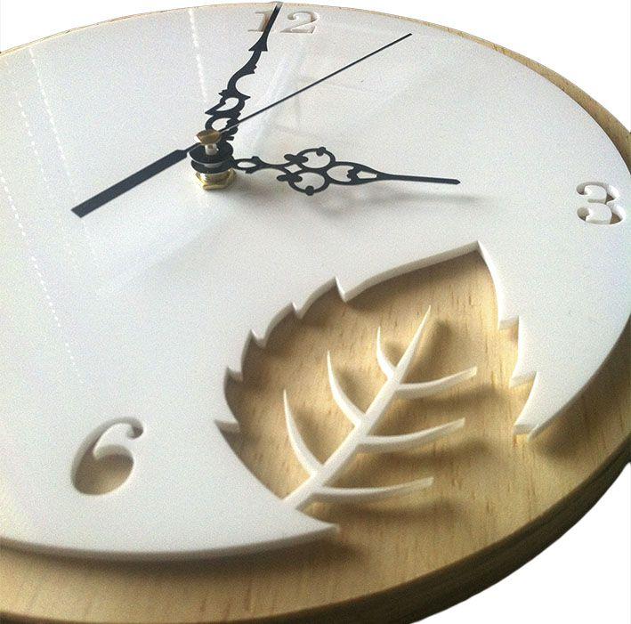 leaf clock   leaf clock - www.utique.co.za