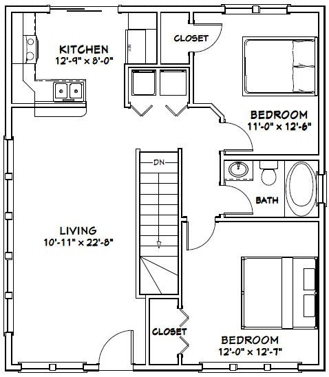 28x32 House -- #28X32H3 -- 848 sq ft - Excellent Floor Plans ~ ​Residential design and drafting solutions for Hawaii homeowners, real estate investors, and contractors. Most projects ready for permit applications in 2 weeks or les