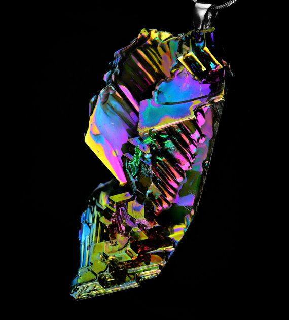 Color Fountain Iridescent Bismuth Metal Crystal by Element83