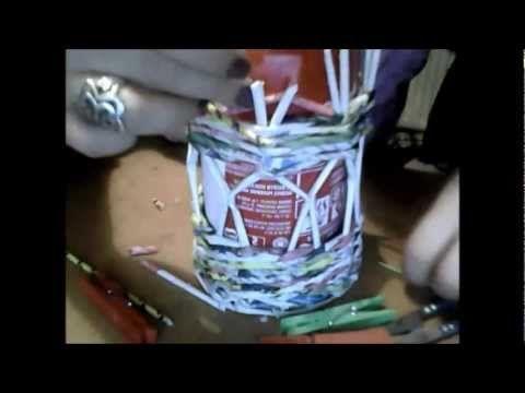 ▶ Lampion z wikliny papierowej - YouTube