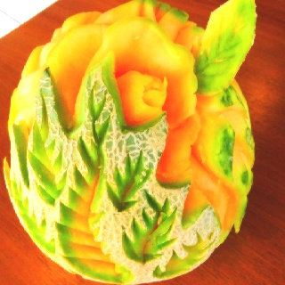 Best Melon Carvings Sculptures And Recipes Images On - Incredible sculptures carved watermelon
