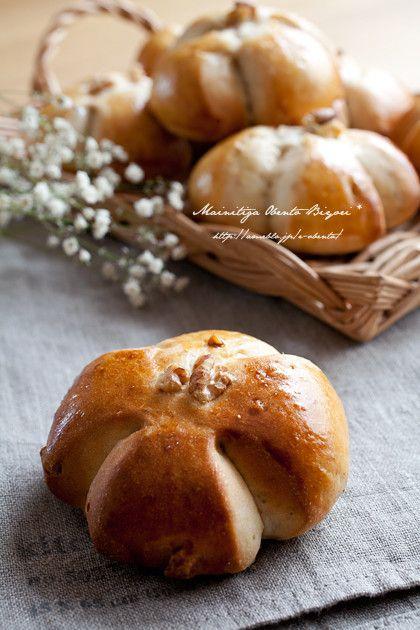 HBで作るもっちり甘いくるみパン♪豆乳+くるみ使用で美容効果もアップ!お砂糖類はお家にあるもので代用してもOKです。