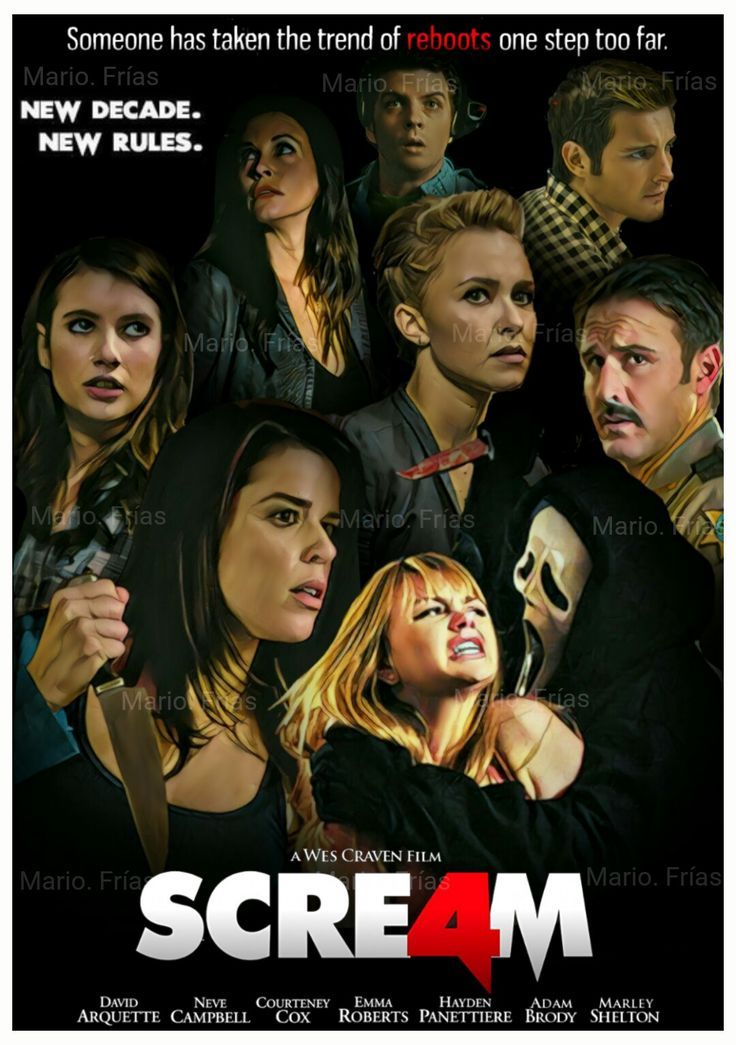 Scream 4 2011 I Didn T Know There Was A 4th One I Ve Only Seen The Original Trilogy Scream Movie Best Horror Movies Horror