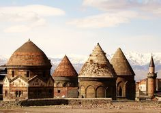Erzurum Turkey. Uc (3)kumbetler.By hay-kes & Seref Halicioglu.