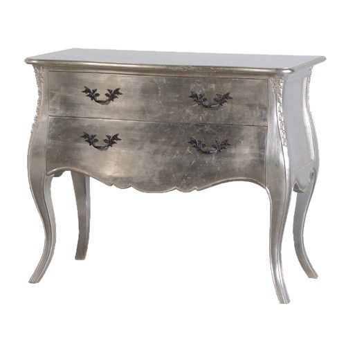 The Tiffany antique style chest is a stunning piece of furniture. This  chest features 2 drawers and has a silver leaf finish. It looks amazing  when matched ... - 15 Best Tiffany Silver Leaf French Furniture Images On Pinterest