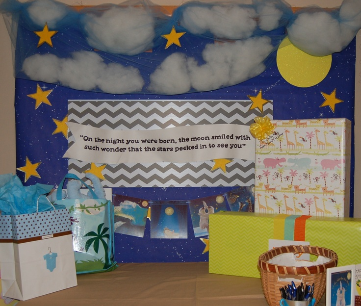 Display Baby Shower: On The Night You Were Born