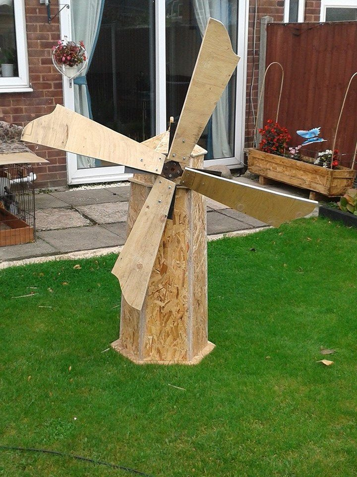 Handmade Windmill From Recycled Wood