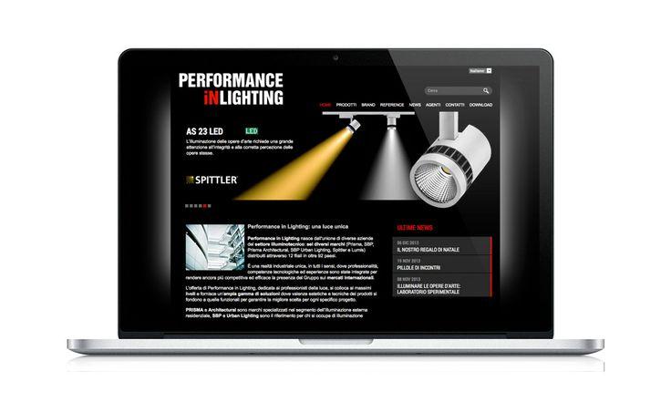 Performance in Lighting - Prisma Architectural, progetto del sito istituzionale e dei 7 siti delle filiali