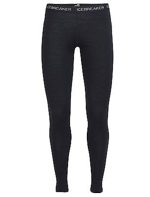 X-Small, Black, Icebreaker Women's Oasis Body Fit Leggings