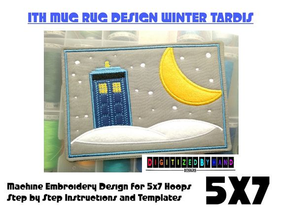 21 best ith embroidery designs on etsy images on pinterest ith mug rug winter tardis applique design dr by digitizedbyhand machine embroidery patternsembroidery dt1010fo