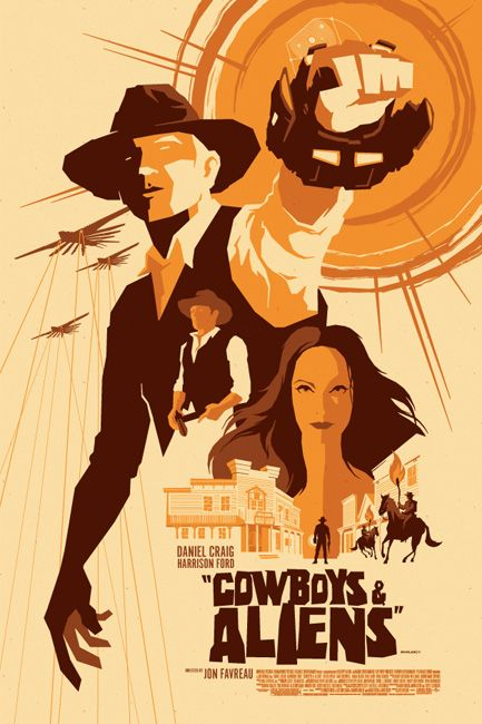 Cowboys Vs Aliens Vector