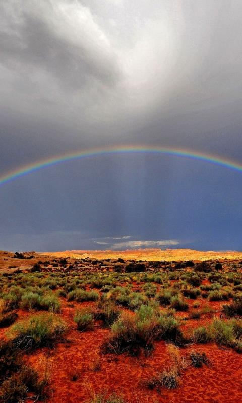 Rainbow, Arches National Park, Utah; Hmmm, I wonder if there is a pot of gold at the end of the rainbow!!!