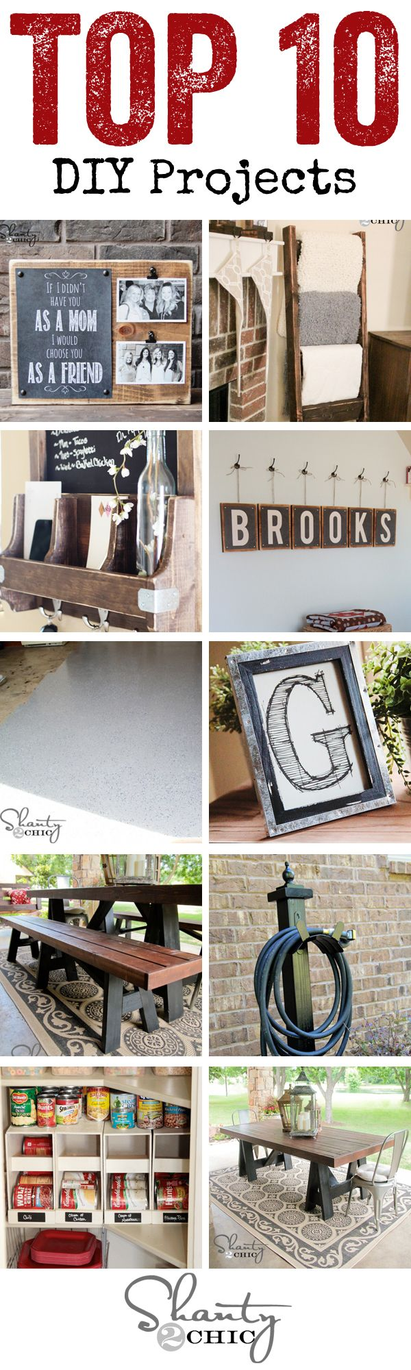 Top 10 DIY Projects of 2013!!  LOVE these!  www.shanty-2-chic.com