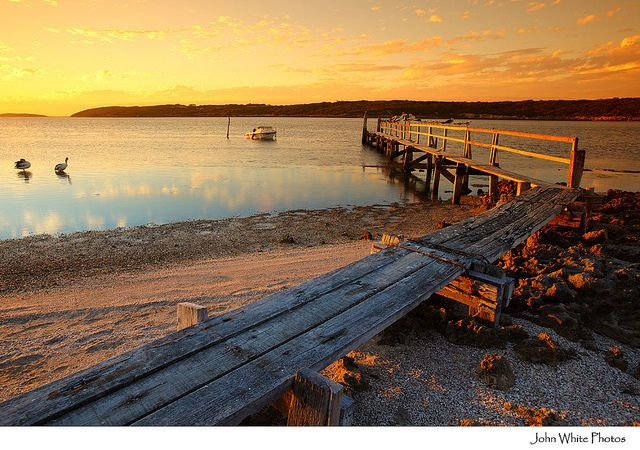 This is a photo of a Coffins Bay sunset  By CJ