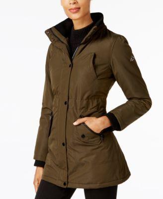 Halifax Faux-Fur-Trim Water-Resistant Coat, A Macy's Exclusive - Black XXL