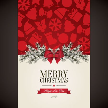 204 best Christmas Inspiration! images on Pinterest Christmas - new year greeting card template