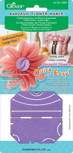 Clover Kanzashi Flower Maker  Gathered Petal Large 3 inches