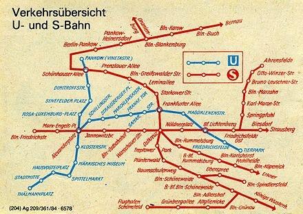 Good  map of U Bahn underground and S Bahn city