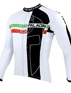 ILPALADINO Cycling Jersey Men s Long Sleeves Bike Jersey Top Bike Wear  Thermal   Warm Quick Dry Ultraviolet Resistant Breathable Patchwork 2d91a9867