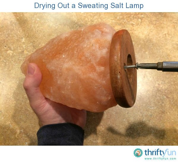 Salt lamps are sold for their air purifying qualities, as they draw moisture, allergens, and impurities from the air. They do sweat, however, and need attention. This is a guide about drying out a sweating salt lamp.