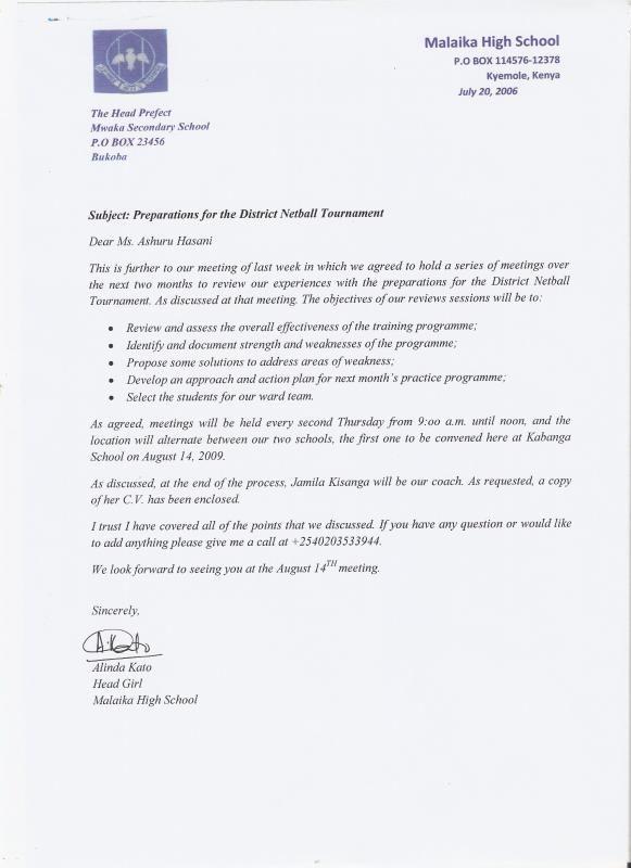 Writing A Formal Letter Formal Letter Template A Formal Letter