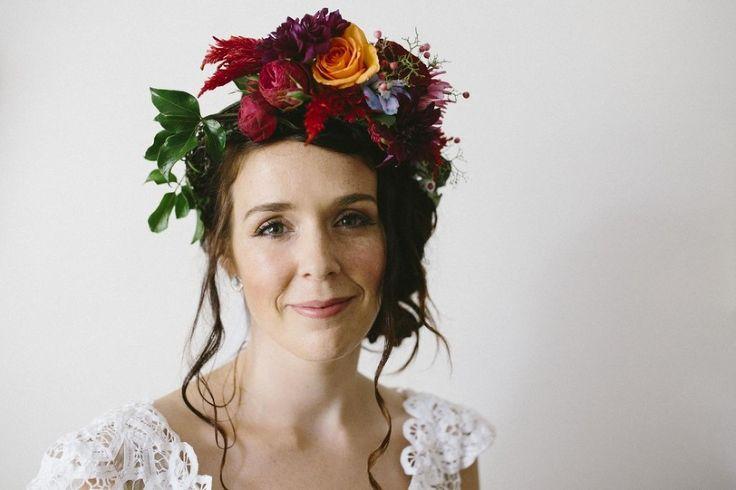 Sophie & Damian Blog-206 Flower crown, festival wedding