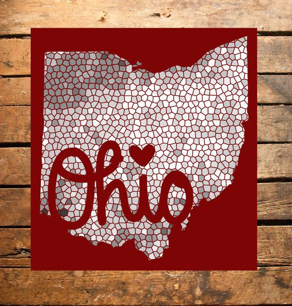 Mosaic Script Ohio Digital Print