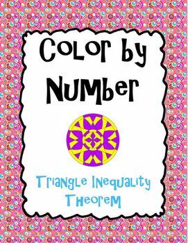 In this activity, students will apply knowledge of the triangle inequality theorem to determine if the three sides given can form a triangle--as they color!  Students will color problem numbers on the mandala with 2 opposing colors of their choice--a dark color if the sides given can form a triangle, and a light color if the sides given cannot form a triangle.