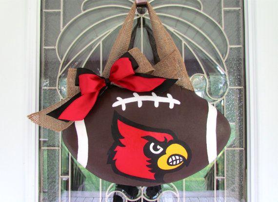Sold  University of Louisville Door Hanger by BamaCreations, $43.00