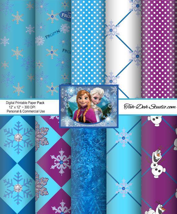 Disney Frozen Background Paper 12x12 Sheet Clip Art Clipart Resizeable Quick Page Scrapbook  Digital Paper Printable Art Sizeable on Etsy, $5.00