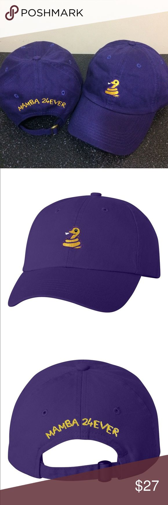 Mamba 24 Ever Kobe Bryant Adjustable Dad Cap - Hat Unisex Stitched/Embroidered Adjustable strap for a perfect fit.   (Due to dye and wash process there may be some slight variation in color and sizing) If you have any further questions just contact us and we will be happy to assist you! Valued Cap Accessories Hats