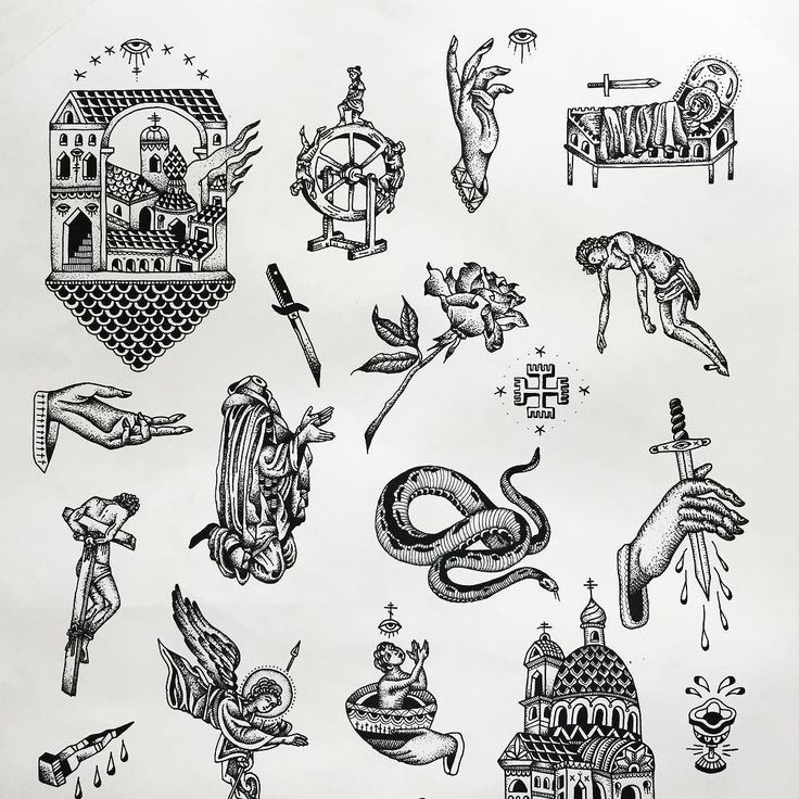 Finally finished the top half to this large flash sheet. Now to frame it. Some items are available to tattoo - email for more info. by russellxwinter