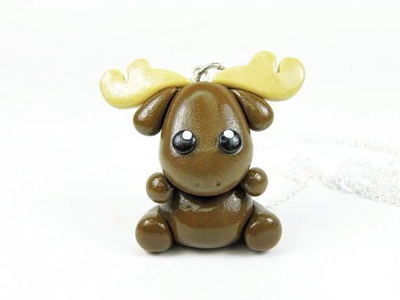 Kawaii Moose charm
