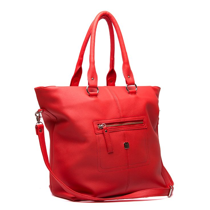 Big red handbag Alyse
