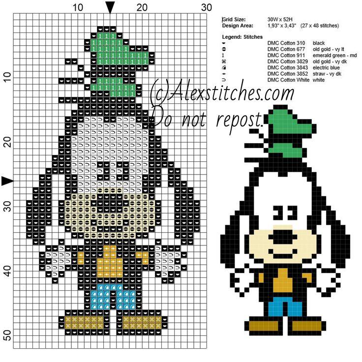 Goofy Disney Cuties free pattern (30x52)
