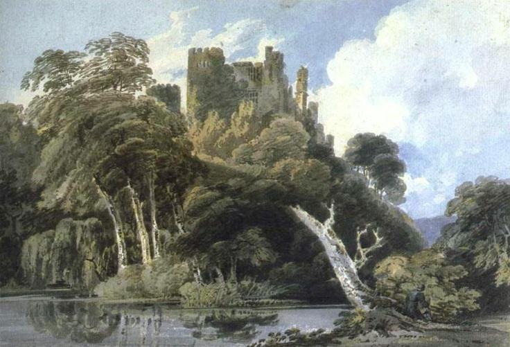 Berry Pomeroy Castle, Devon. By Thomas Girtin.