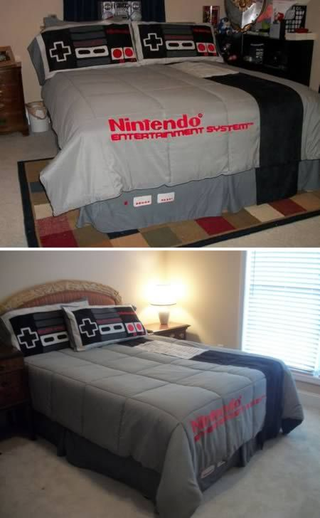 Cuando era niño creía que sábanas de Nintendo era genial.