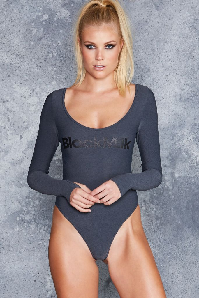 Studio Charcoal Thong Bodysuit - CAPPED PRESALE ($70AUD) by BlackMilk Clothing