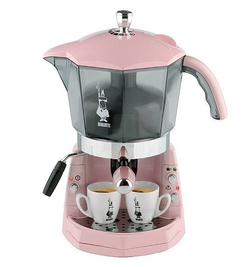 "Bialetti pink Mokona coffee machine This would start a ""PinKsters"" day off so Sweetly."