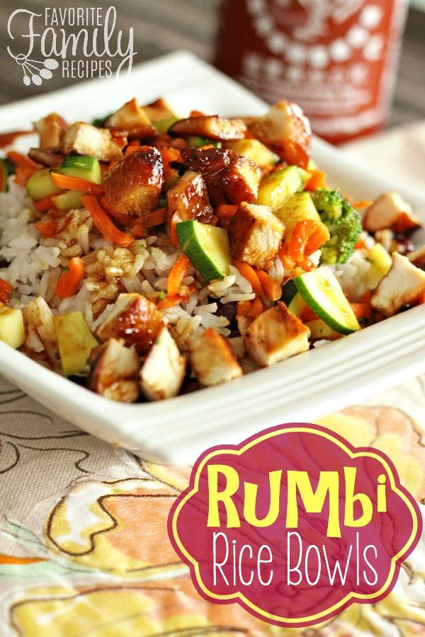 I hope you are as excited as I am about this recipe for Rumbi Rice Bowls! The sauce is amazing.  Find all our yummy pins at https://www.pinterest.com/favfamilyrecipz/