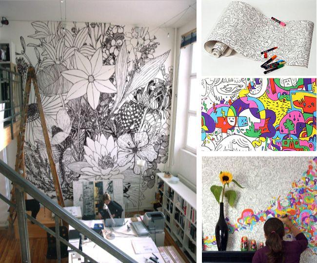 diy graffiti & scribbles on furniture