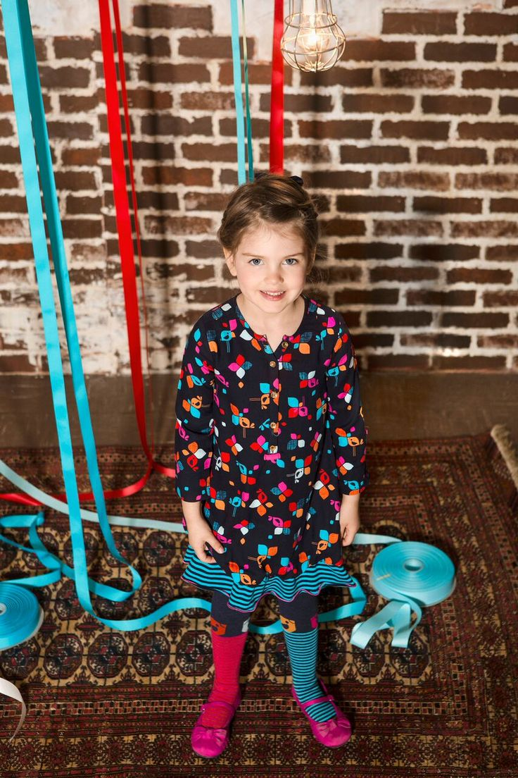 Deux Par Deux | Fall/Winter 2015 - Bisous D'Oiseaux Collection #girls #outfit #kidsfashion #dress #winter #mode #enfants #filles #modeenfants #robe #hiver