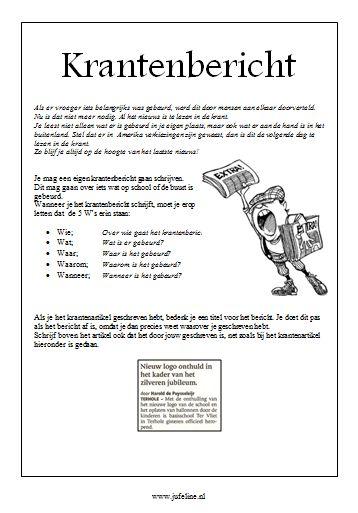 Tips en werkwijze om een krantenbericht te schrijven.