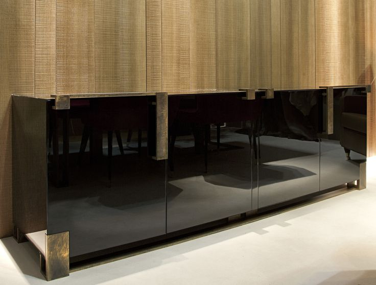 Black and Gold Cabinet by Paolo Castelli S.p.A.