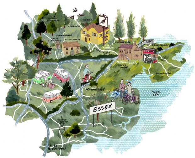 Locals guide to Essex map