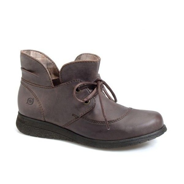 """Born 'Hamids' Chukka Boot, 1 1/4"""" heel (355 BRL) ❤ liked on Polyvore featuring shoes, boots, ankle booties, ankle boots, cafe leather, short heel boots, leather bootie, round toe ankle boots, leather booties and born boots"""
