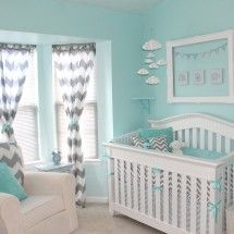 Aqua and Gray Nursery - no more babies for me but I absolutely LOVE this room and the colors!!