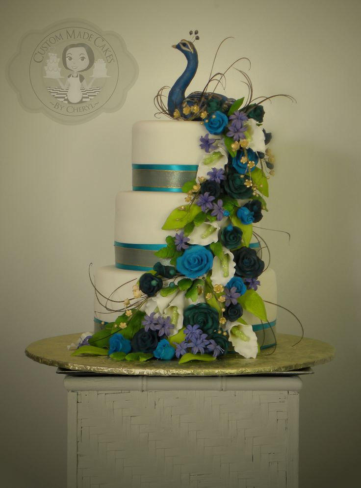 Peacock wedding cake                                                                                                                                                                                 More